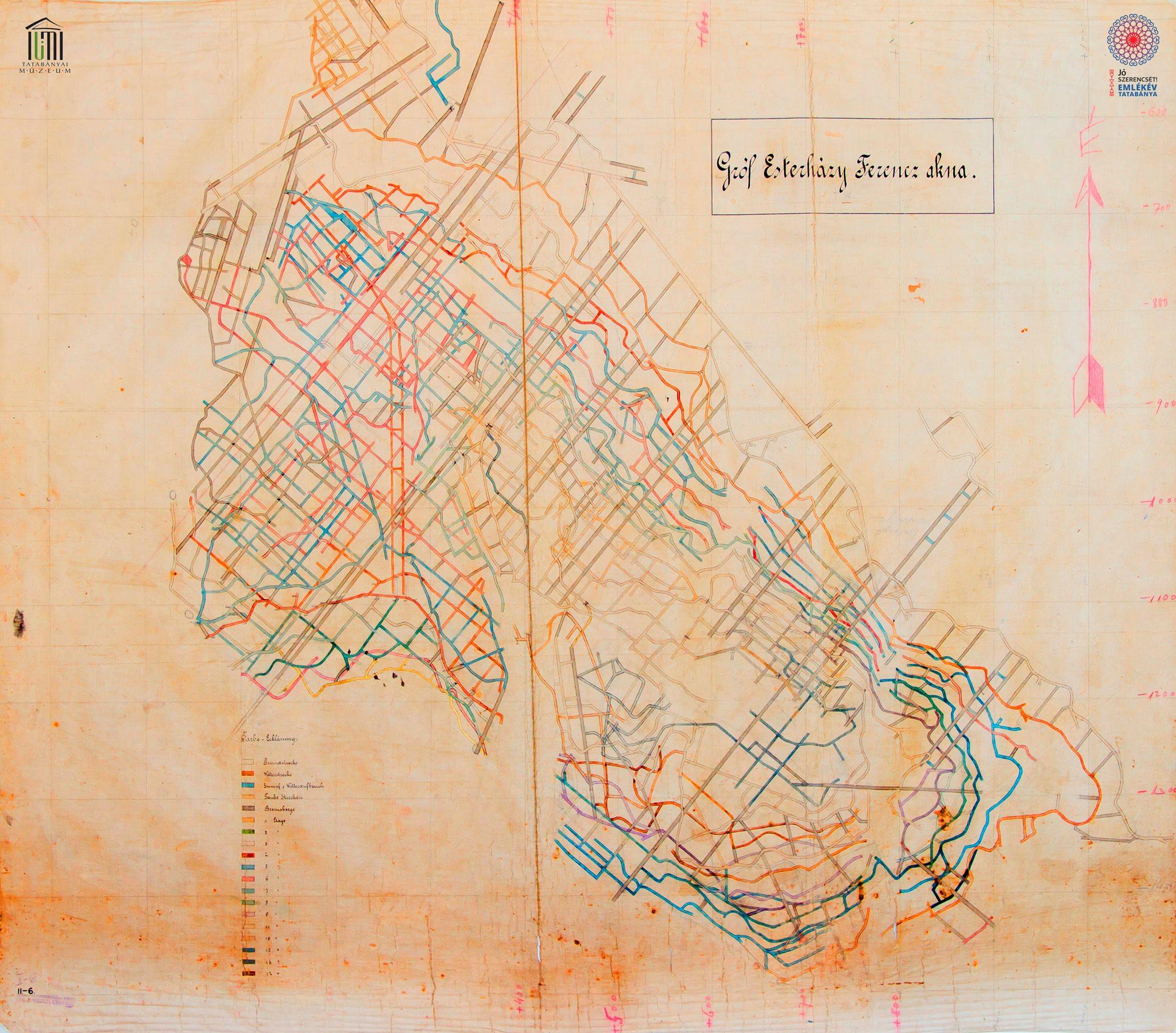 Esterházy-akna bányatérkép